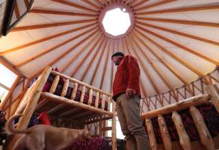 Fire Fly Yurt at Funky Bow