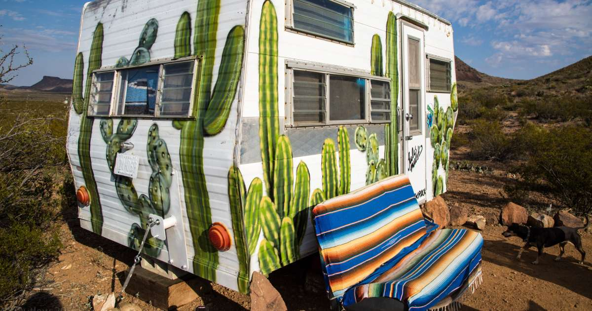 1962 Vintage Rv Quot Cozy Cactus Quot Tin Valley Retro Rentals