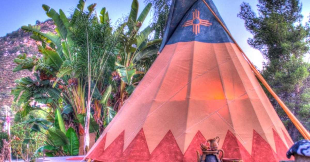Mystic Canyon Tipi Glamping for 2!, Mystic Canyon Inn, CA: 1 ...