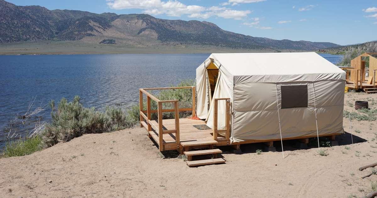 Lakeside Tent Cabins, Bridgeport Reservoir Campground, CA ...