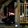 Hillside Tent Cabin in NC mtns