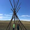 Remote Prairie Teepee