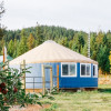 Big Blue Yurt on a Sheep Farm