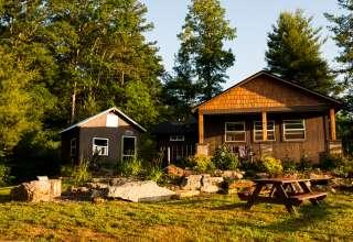 Camping On Organic Farm