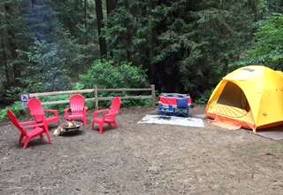 Glamping in Bay Area Redwoods
