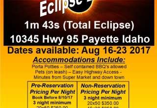 Eclipse Camping Payette Idaho