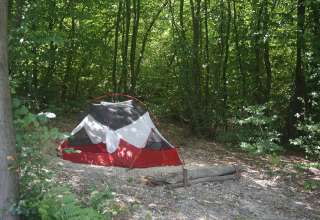 Camp by Tent