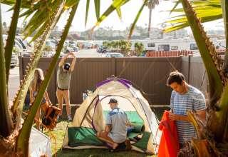 Camping in Oceanside