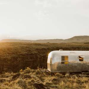 Gleaming Airstream Overlooking The Rio Grande Gorge