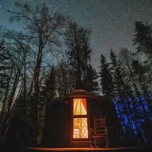 Small Yurt in the Woods