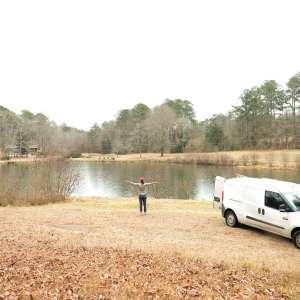 Peaceful Land on Beautiful Lake