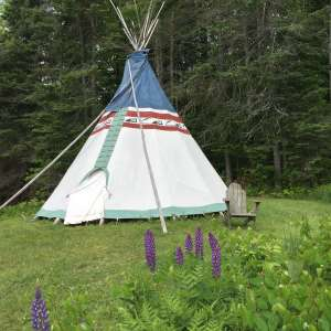 Tipi in Central Vermont