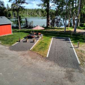 Waterfront RV hookup, Kayak SUP