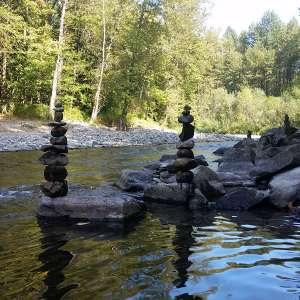 Zen river mountain paradise