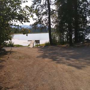 Camping at Rose Lake