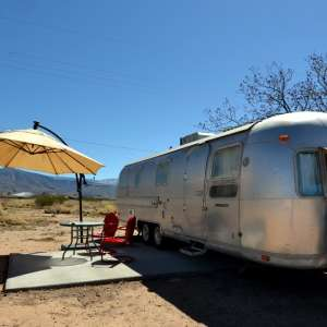 Airstream with Mountain Views