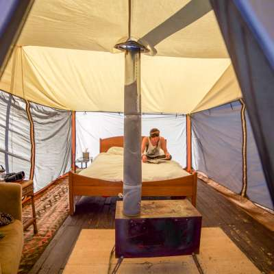 Ocotillo Farm Luxury Tent Camping