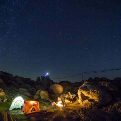 Desert Tower Tent Camping