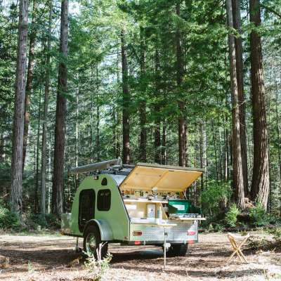 RV Camping in the Redwoods