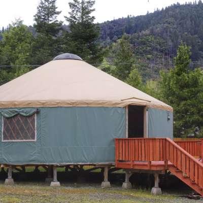 30' Yurt in the Trinity Alps