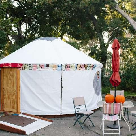 Old Tennis Court Yurt Camp