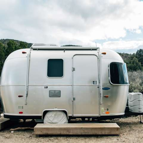 Airstream Bambi in San Gabriels