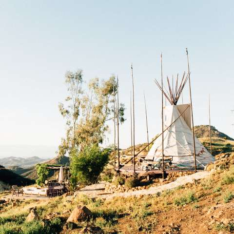 Tipi In Malibu Mountains