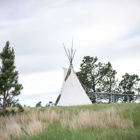 Rolling hills, Lakota Tipi