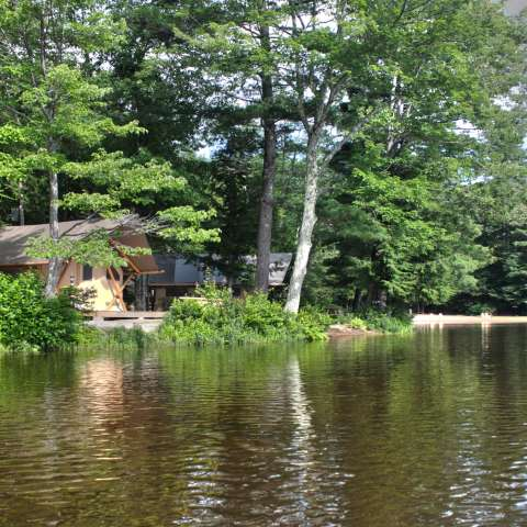 Trappeur Tent by the Lake