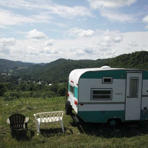 Vintage Camper with a View
