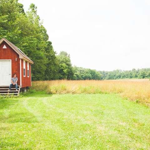 Hay Wagon Tiny Houses on Farm