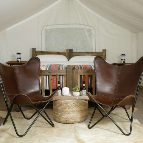 Safari Tent with 4 Twin Beds
