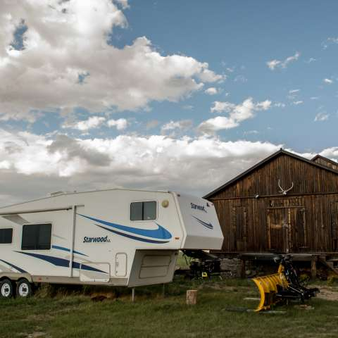 RV at historic ranch