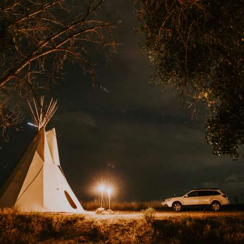 Creekside Teepee on DEKO Ranch