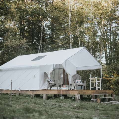 Canvas Wall Tent - Glampsite NH