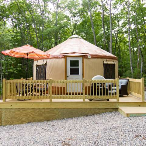 Fire Fly Yurts at Funky Bow