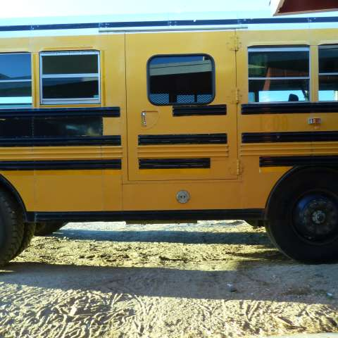School Bus with bed