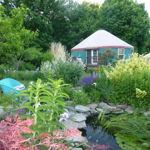 Unique Garden Yurt w/ Waterfall