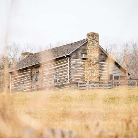 Log Cabin on a Virginia Farm