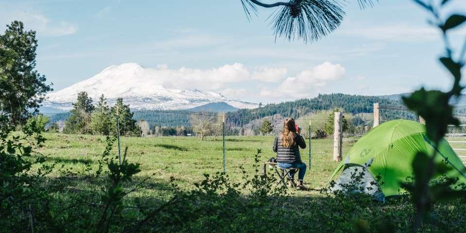 Camping Between Mount Adams and Mount Hood