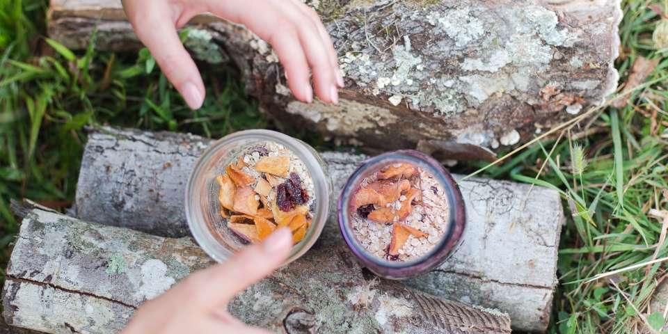 Vegan Campsite Mason Jar Oats