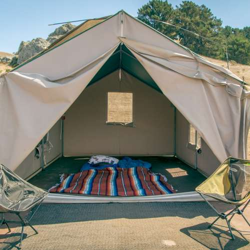 Best camping near salmon creek ranch california with for Canvas platform tents