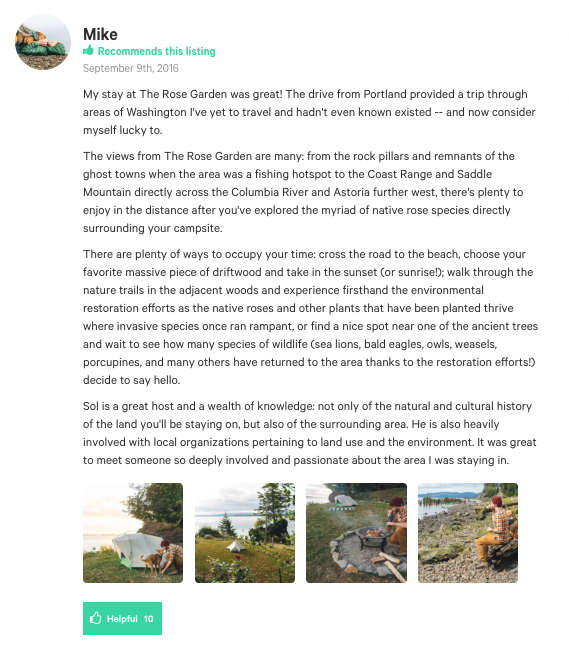 Hipcamp's Guide to Helpful Campground Reviews and Photos