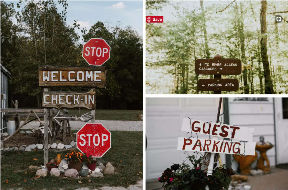 Sign Ideas for Hosts