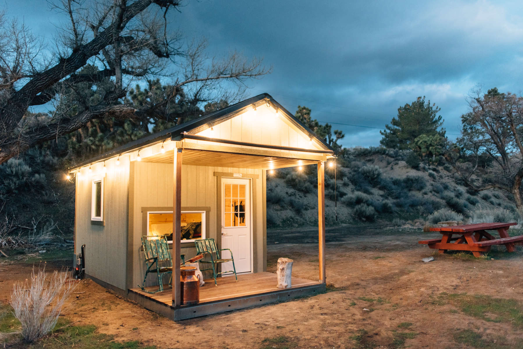 tiny house cabin in san gabriels angeles crest creamery ca 49