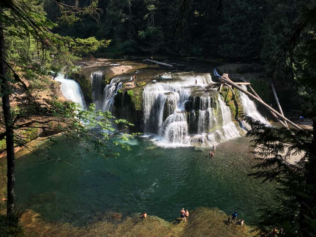 Camping at Gifford Pinchot National Forest near Carson Was