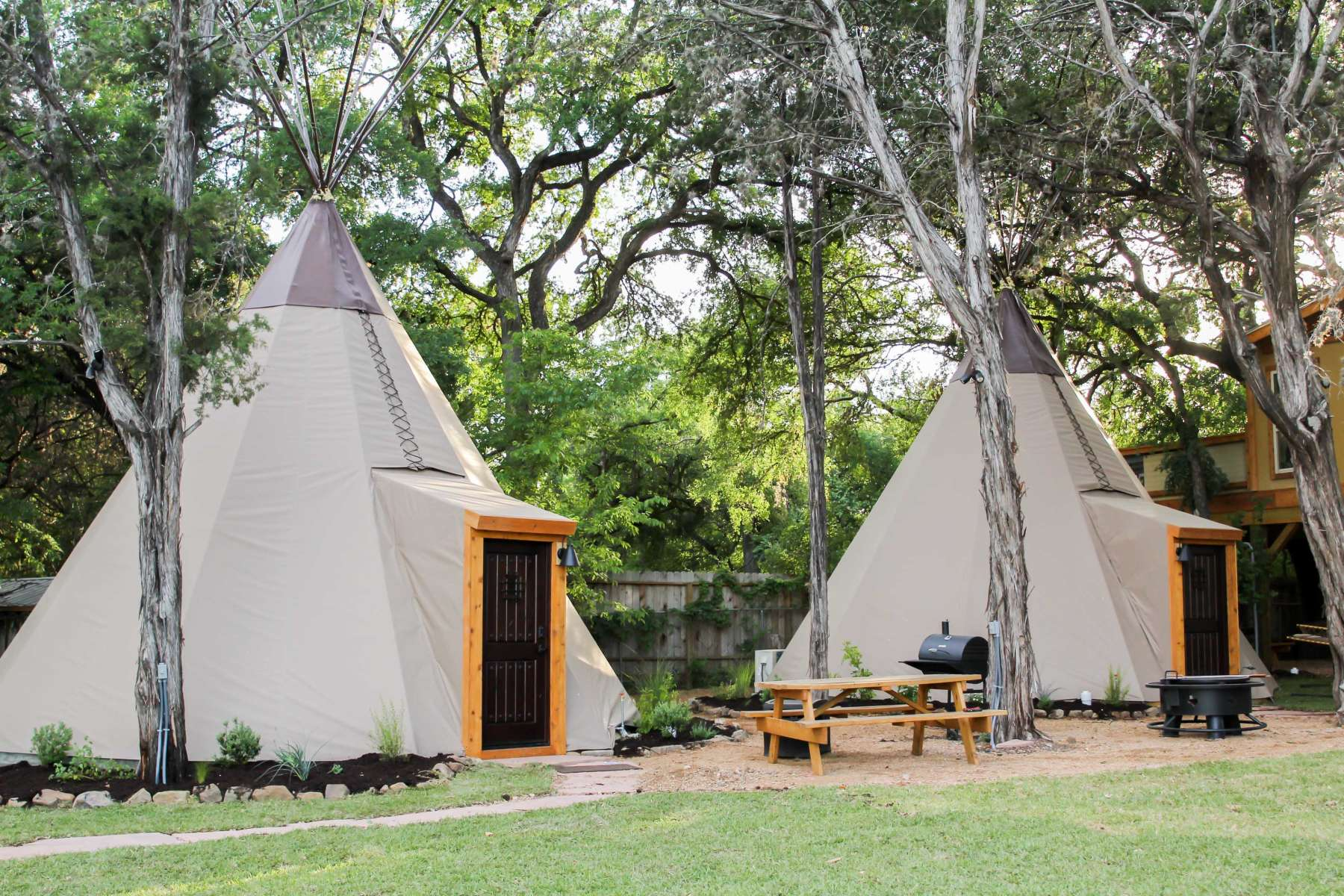New Braunfels Camping >> Hill Country Tipis Reservation On The Guadalupe Tx 2 Hipcamper