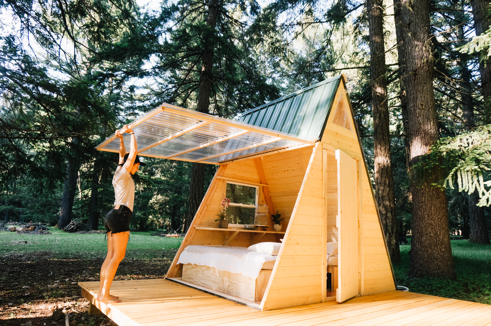 How to build this A-frame for $700 | Hipcamp Journal