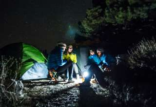 This campsite is a virtual wind tunnel! Make sure to anchor that tent well. The views at night are amazing though!