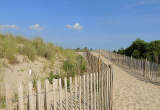 Headed to the beach at Cape Henlopen.